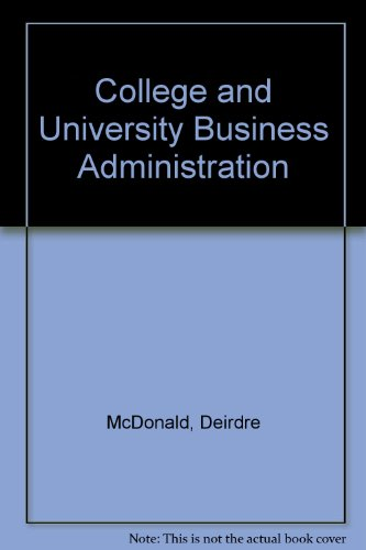 College and University Business Administration 1st 2000 9781569720141 Front Cover