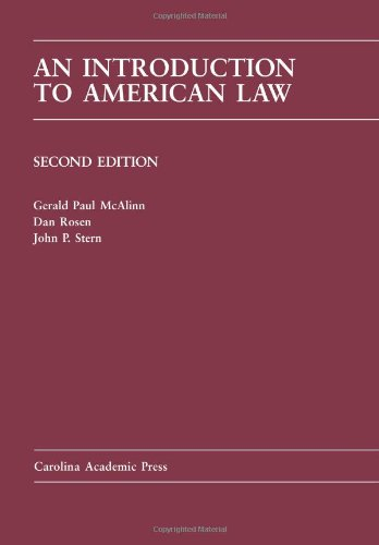 Introduction to American Law  2nd 2010 edition cover
