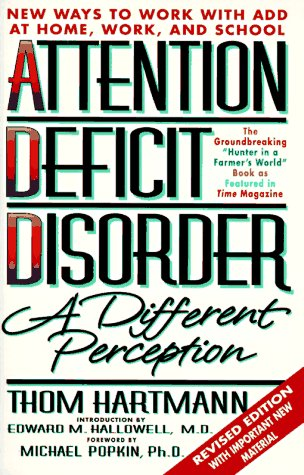 Attention Deficit Disorder A Different Perception 2nd 1997 (Revised) edition cover