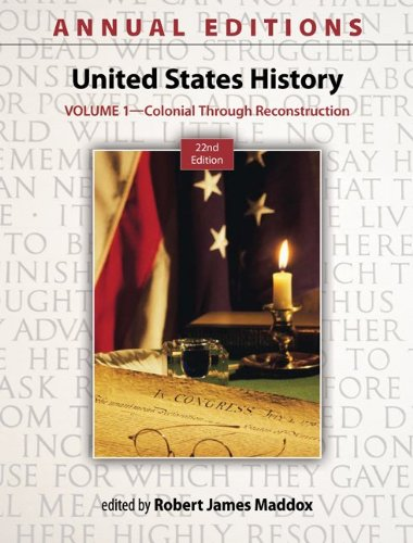 United States History Colonial Through Reconstruction 22nd 2013 edition cover