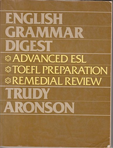 English Grammar Digest 1st 1984 9780132810142 Front Cover