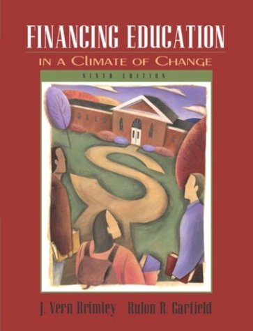 Financing Education in a Climate of Change  9th 2005 (Revised) edition cover