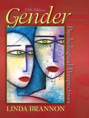 Gender Psychological Perspectives 5th 2008 edition cover