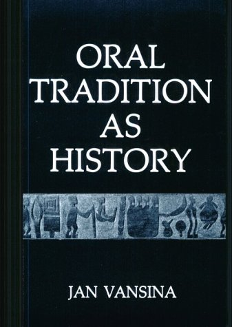 Oral Tradition As History  N/A edition cover