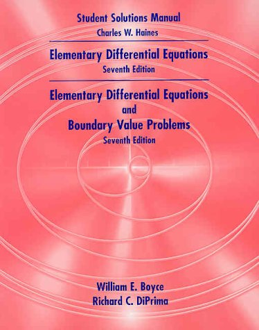 Boyce and Diprima's Elementary Differential Equations 7e and Elementary Differential Equations  7th 2001 9780471391142 Front Cover