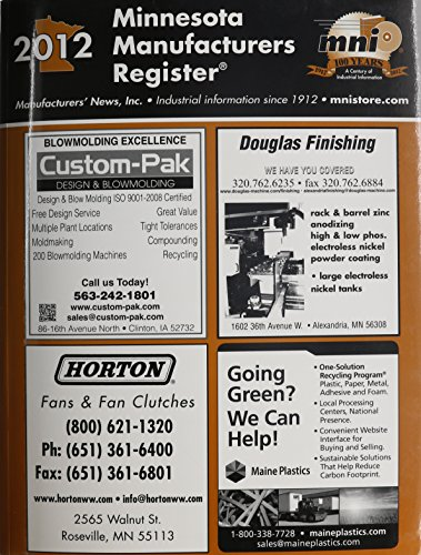 Minnesota Manufacturers Register 2012:  2011 edition cover