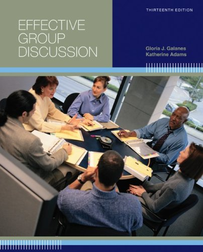 Effective Group Discussion  13th 2010 edition cover