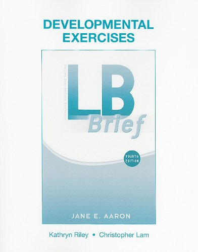 Developmental Exercises for LB Brief  4th 2011 9780205751143 Front Cover