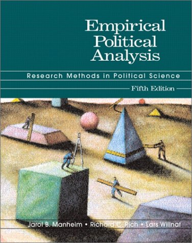Empirical Political Analysis Research Methods in Political Science 5th 2002 9780321086143 Front Cover