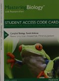 Masteringbiology With Pearson Etext for Campbell Biology:   2013 edition cover