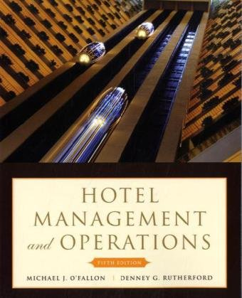 Hotel Management and Operations  5th 2011 edition cover