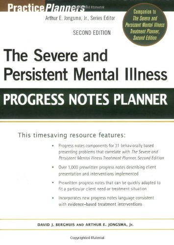 Severe and Persistent Mental Illness Progress Notes Planner  2nd 2008 edition cover