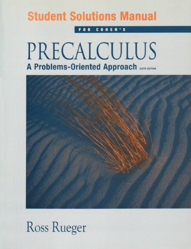 Precalculus A Problems-Oriented Approach 6th 2005 9780534402143 Front Cover