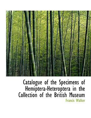Catalogue of the Specimens of Hemiptera-heteroptera in the Collection of the British Museum:   2008 edition cover