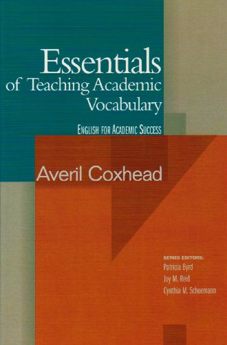 Essentials of Teaching Academic Vocabulary   2006 edition cover