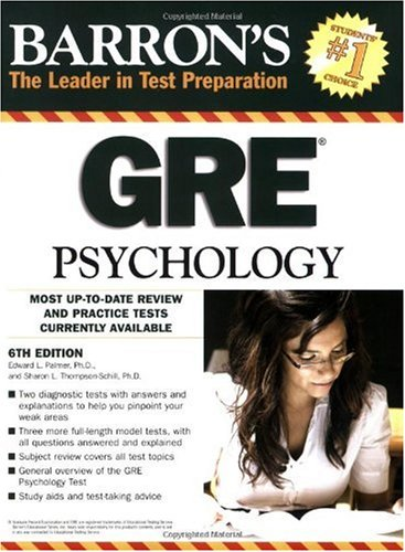 Barron's GRE Psychology  6th 2009 (Revised) edition cover