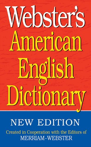 Webster's American English Dictionary  N/A edition cover