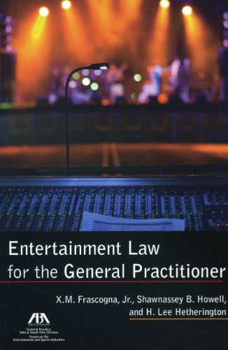 Entertainment Law for the General Practitioner   2011 edition cover