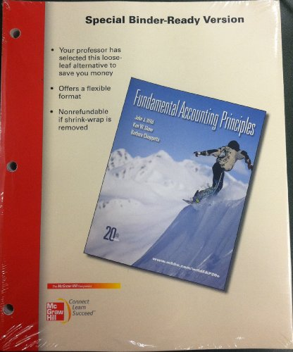 Loose-Leaf Fundamental Accounting Principles  20th 2011 edition cover