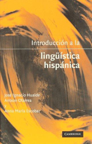 Introducci�n a la Ling�istica Hisp�nica   2001 edition cover