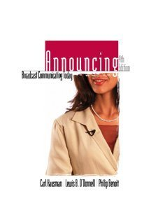 Announcing Broadcast Communicating Today 4th 2000 9780534562144 Front Cover