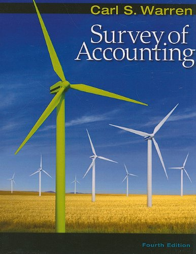 Survey of Accounting  4th 2009 9780538478144 Front Cover