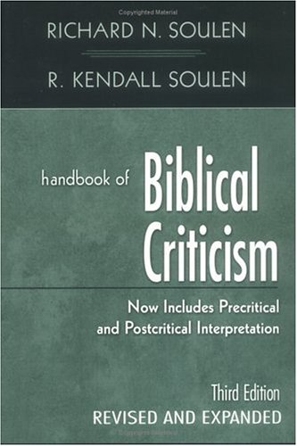 Handbook of Biblical Criticism  3rd 2001 (Revised) edition cover