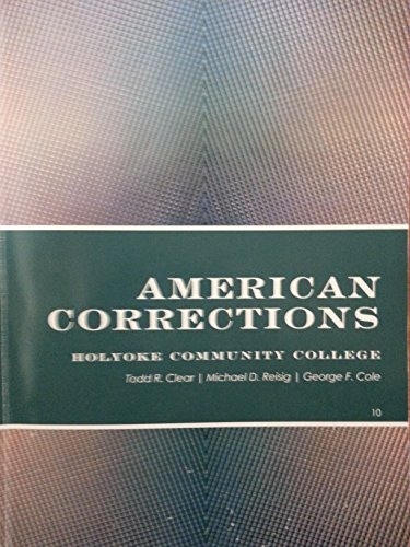 AMERICAN CORRECTIONS >CUSTOM<  N/A 9781285119144 Front Cover