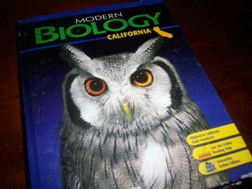 Biology, Grade 9: Holt Modern Biology California  2007 9780030922145 Front Cover