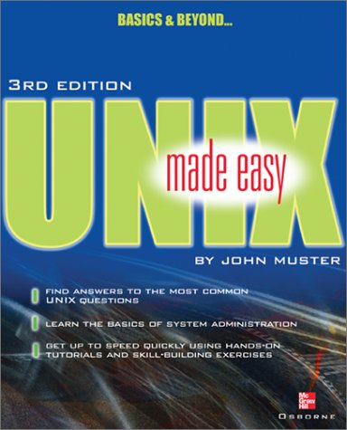 UNIX Made Easy  3rd 2002 edition cover