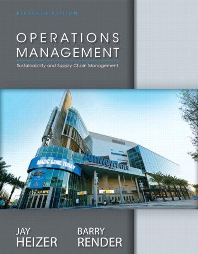 Operations Management  11th 2014 9780132921145 Front Cover