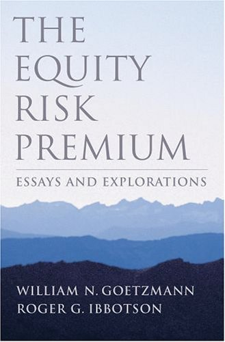 Equity Risk Premium Essays and Explorations  2004 9780195148145 Front Cover