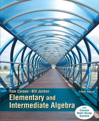 Elementary and Intermediate Algebra  4th 2015 edition cover
