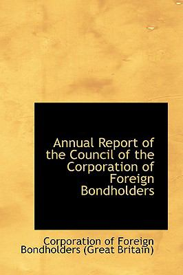 Annual Report of the Council of the Corporation of Foreign Bondholders:   2008 edition cover