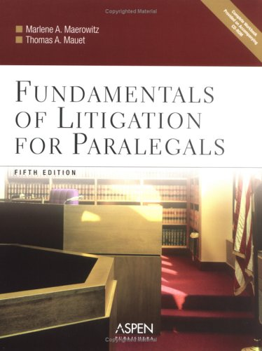 Fundamentals of Litigation for Paralegals  5th 2005 (Revised) 9780735551145 Front Cover