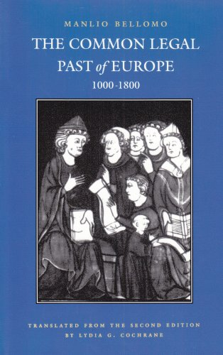 Common Legal Past of Europe, 1000-1800  N/A edition cover