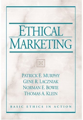 Ethical Marketing 1st 2005 9780131848146 Front Cover