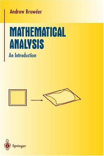 Mathematical Analysis An Introduction  1996 9780387946146 Front Cover