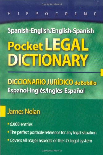 Spanish-English/English-Spanish Pocket Legal Dictionary   2008 9780781812146 Front Cover