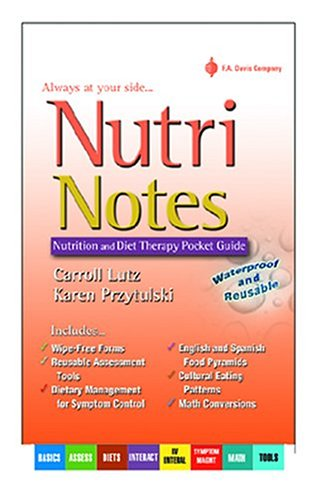 NutriNotes Nutrition and Diet Therapy Pocket Guide  2004 edition cover