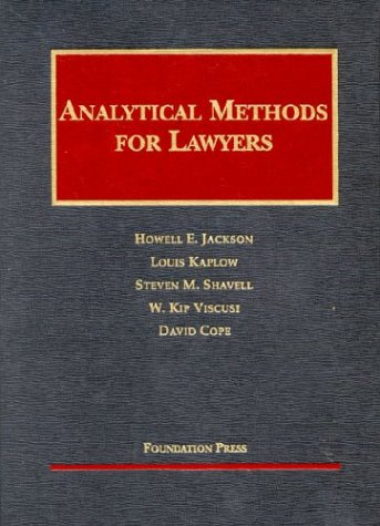 Analytical Methods for Lawyers   2003 edition cover