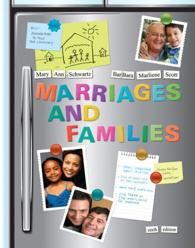 Marriages and Families Diversity and Change 6th 2010 edition cover