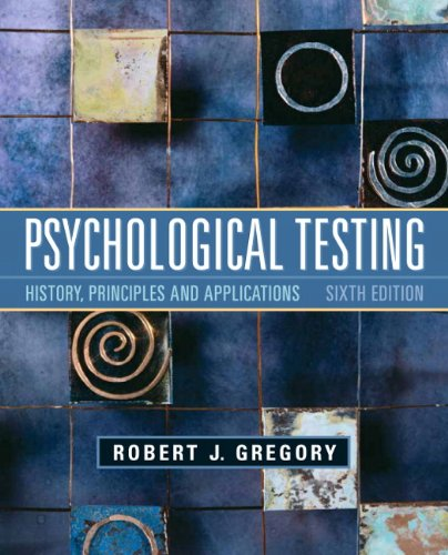 Psychological Testing History, Principles, and Applications 6th 2011 edition cover