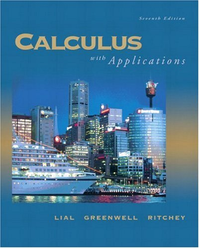 Calculus with Applications  8th 2005 (Revised) edition cover