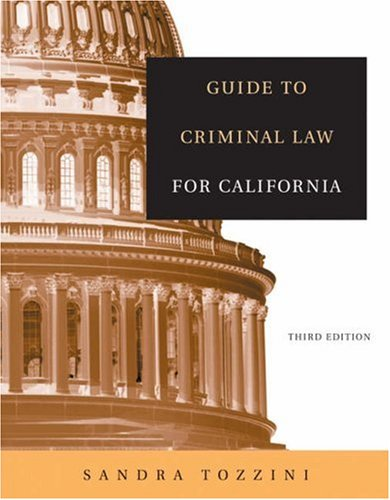Guide to Criminal Law for California  3rd 2005 (Revised) edition cover