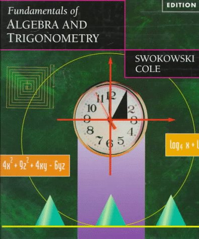 Fundamentals of Algebra and Trigonometry  9th 1997 (Revised) edition cover