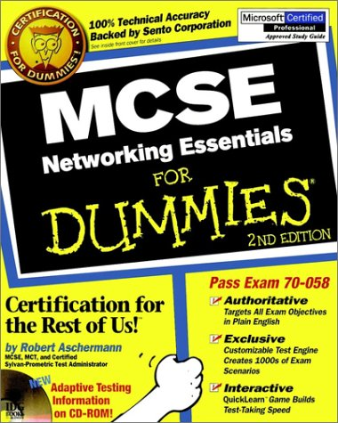MCSE Networking Essentials for Dummies  2nd 1999 9780764506147 Front Cover