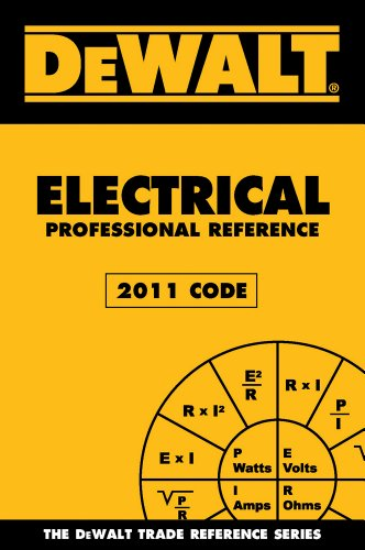 DEWALT Electrical Professional Reference - 2011 Edition  2nd 2012 edition cover