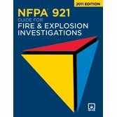 NFPA 921 Guide for Fire and Explosion Investigations  2011 edition cover