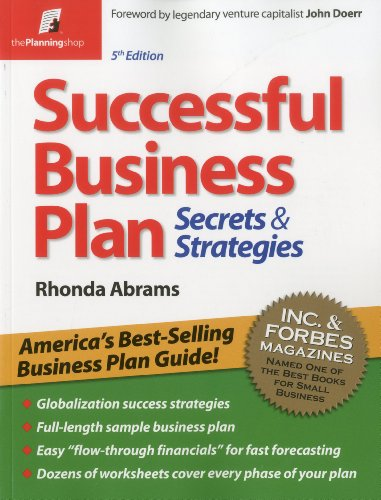Successful Business Plan Secrets and Strategies 5th edition cover
